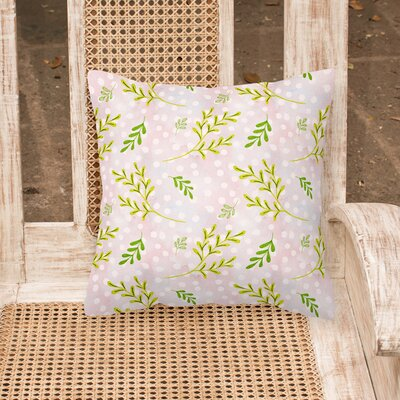 Padya Leaves Outdoor Throw Pillow