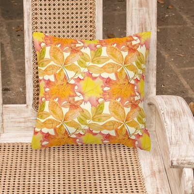 Middleburgh Fall Leaves Outdoor Throw Pillow