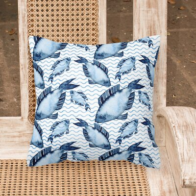 Miramar Beach Fishes Outdoor Throw Pillow