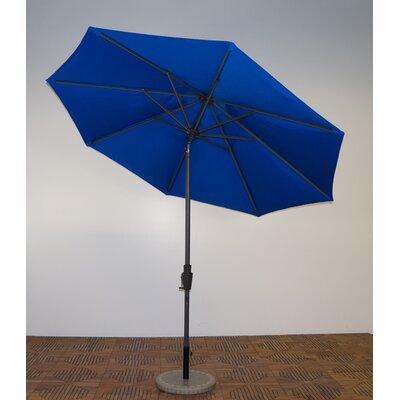 9 Market Umbrella Fabric: Pacific Blue, Frame Finish: Durango