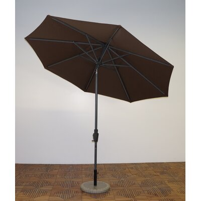 9 Market Umbrella Fabric: Kona Brown, Frame Finish: Durango