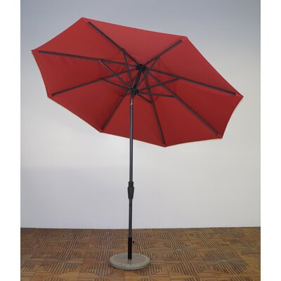 9 Market Umbrella Fabric: Paprika, Frame Finish: Durango