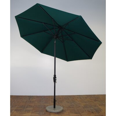9 Market Umbrella Fabric: Forest Green, Frame Finish: Licorice