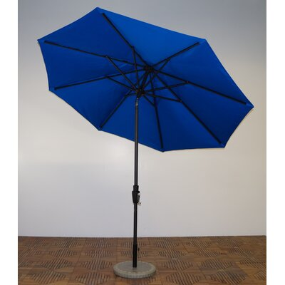 9 Market Umbrella Fabric: Pacific Blue, Frame Finish: Licorice