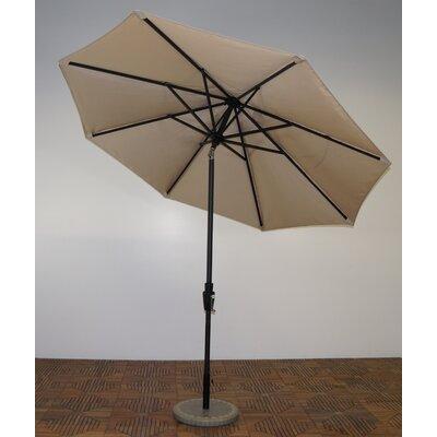 9 Market Umbrella Fabric: Antique Beige, Frame Finish: Licorice