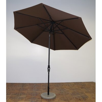9 Market Umbrella Fabric: Kona Brown, Frame Finish: Licorice