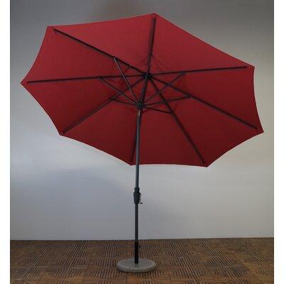 11 Market Umbrella Frame Finish: Durango, Fabric: Paprika