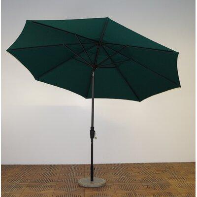 11 Market Umbrella Fabric: Forest Green, Frame Finish: Maple