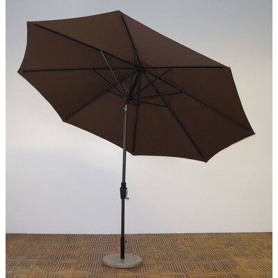 11 Market Umbrella Fabric: Kona Brown, Frame Finish: Maple
