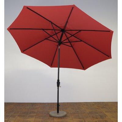 11 Market Umbrella Fabric: Paprika, Frame Finish: Maple