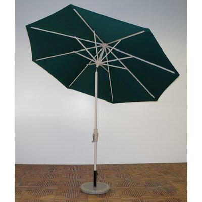 9 Market Umbrella Frame Finish: Aspen, Fabric: Forest Green