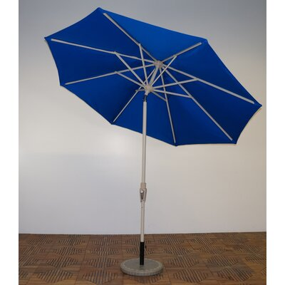 9 Market Umbrella Frame Finish: Aspen, Fabric: Pacific Blue