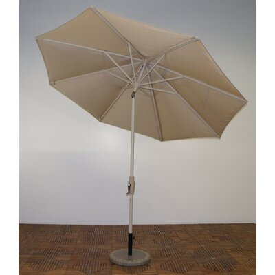 9 Market Umbrella Frame Finish: Aspen, Fabric: Antique Beige