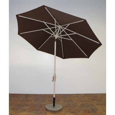 9 Market Umbrella Frame Finish: Aspen, Fabric: Kona Brown