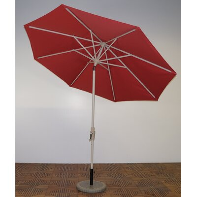 9 Market Umbrella Frame Finish: Aspen, Fabric: Paprika