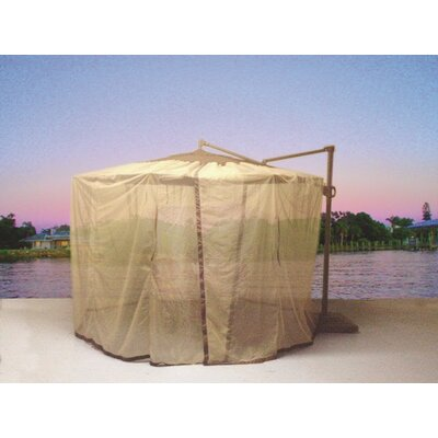 Cantilever Mosquito Umbrella Netting Fabric: Beige
