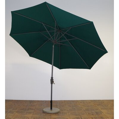 11 Market Umbrella Frame Finish: Durango, Fabric: Forest Green