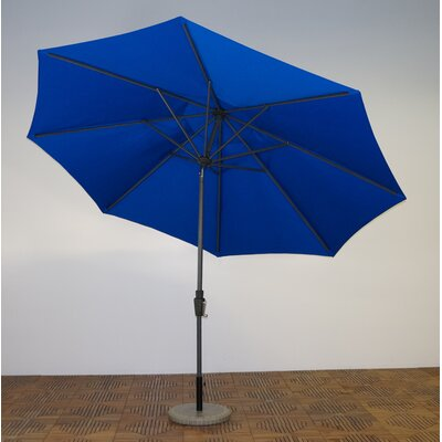 11 Market Umbrella Frame Finish: Durango, Fabric: Pacific Blue