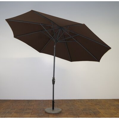 11 Market Umbrella Frame Finish: Durango, Fabric: Kona Brown