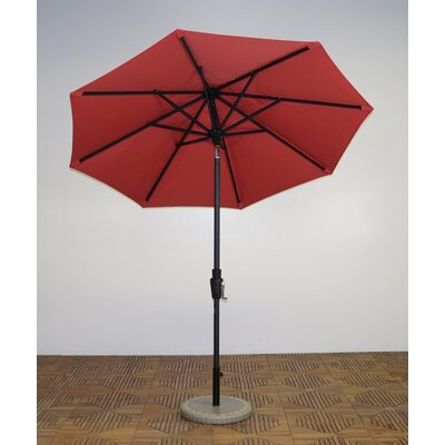 7.5 Market Umbrella Fabric: Paprika, Frame Finish: Licorice