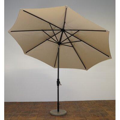 11 Market Umbrella Fabric: Antique Beige, Frame Finish: Licorice