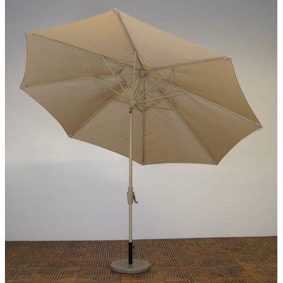 11 Market Umbrella Fabric: Antique Beige, Frame Finish: Maple