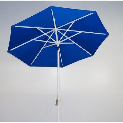 7.5 Market Umbrella Fabric: Pacific Blue, Frame Finish: Licorice