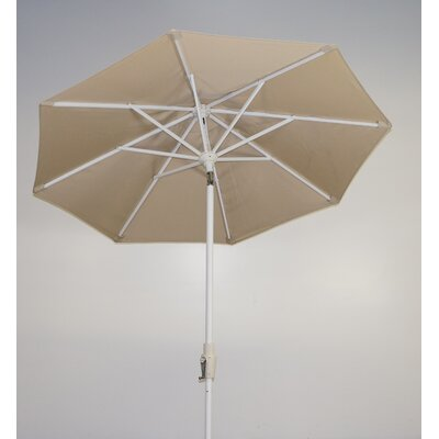 7.5 Market Umbrella Fabric: Antique Beige, Frame Finish: Licorice