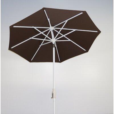 7.5 Market Umbrella Fabric: Kona Brown, Frame Finish: Licorice