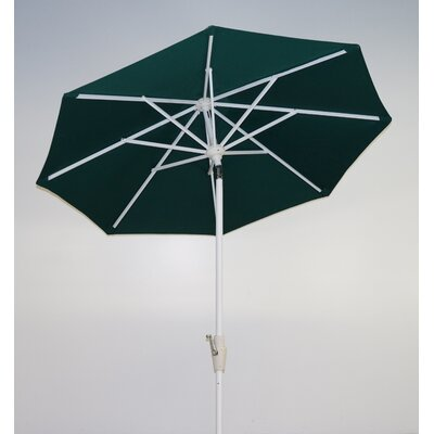 7.5 Market Umbrella Fabric: Forest Green, Frame Finish: Licorice