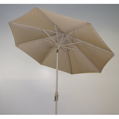 9 Market Umbrella Fabric: Forest Green, Frame Finish: Durango