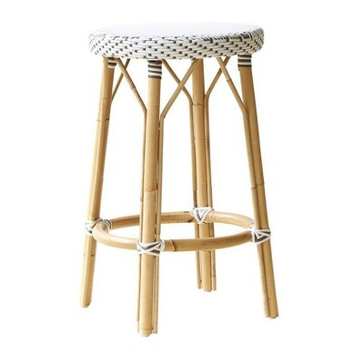Affaire 27 Bar Stool Upholstery: White with Cappuccino Dots