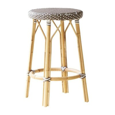 Affaire 27 Bar Stool Upholstery: Cappuccino with White Dots
