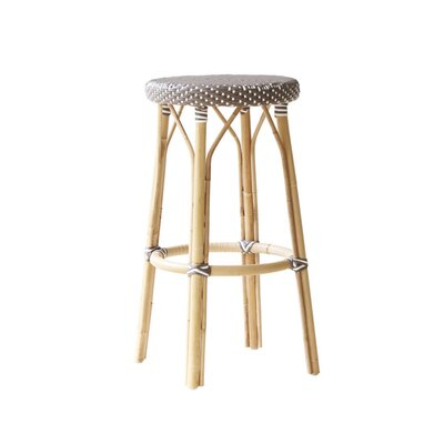 Affaire 30.7 Bar Stool Color: Cappuccino with White Dots