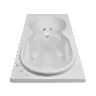 Hygienic Aqua Massage 72 x 42 Whirlpool Bathtub Drain Location: Right