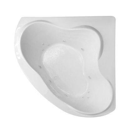 Hygienic Aqua Massage 59 x 59 Whirlpool Bathtub