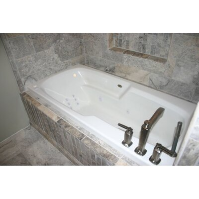 Hygienic Aqua Massage  65 x 32 Whirlpool Bathtub Drain Location: Left