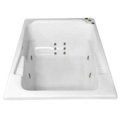Hygienic Aqua Massage 71 x 48 Whirlpool Bathtub Drain Location: Right