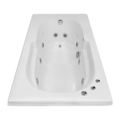 Hygienic Aqua Massage 60 x 32 Whirlpool Bathtub Drain Location: Right