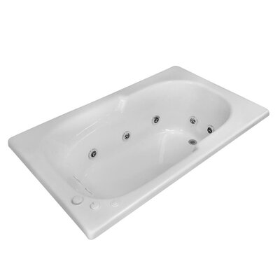 Hygienic Aqua Massage 60 x 32 Whirlpool Bathtub Drain Location: Left