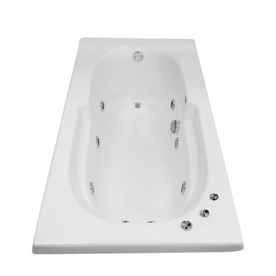 Hygienic Aqua Massage 72 x 36 Whirlpool Bathtub Drain Location: Right