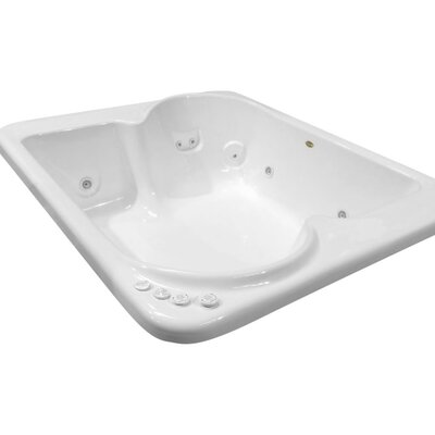 Hygienic Aqua Massage 72 x 60 Whirlpool Bathtub