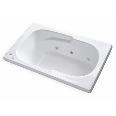 Hygienic Aqua Massage 60 x 36 Whirlpool Bathtub Drain Location: Right