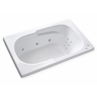 Hygienic Aqua Massage 60 x 36 Whirlpool Bathtub Drain Location: Left