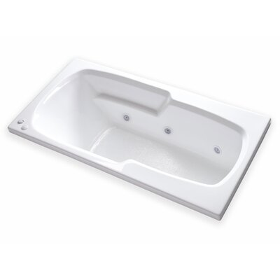Hygienic Aqua Massage  65 x 32 Whirlpool Bathtub Drain Location: Right