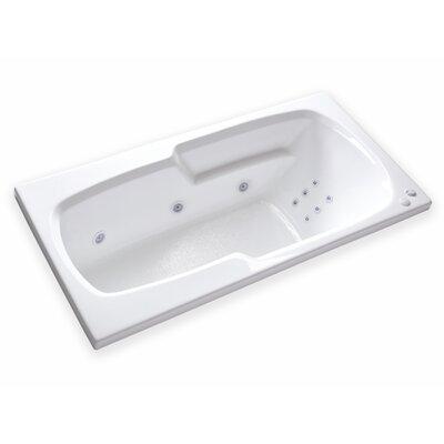 Hygienic Aqua Massage  65 x 32 Whirlpool Bathtub Drain Location: Left