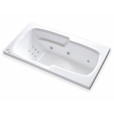 Hygienic Aqua Massage  65 x 32 Whirlpool Bathtub Drain Location: Right