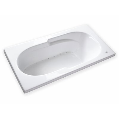 Hygienic Hot Air 72 x 36 Bathtub Drain Location: Left