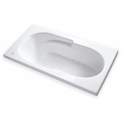 Hygienic Hot Air 72 x 36 Bathtub Drain Location: Right