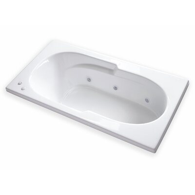 Hygienic Aqua Massage 72 x 36 Whirlpool Bathtub Drain Location: Right